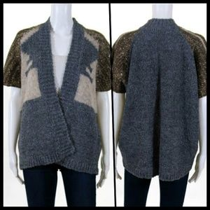 Anthropologie Wool Open Front Cardigan Relaxed S